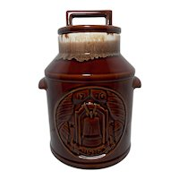 McCoy 1776-1976 Brown Drip Glazed Cookie Jar