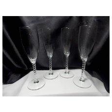 Vintage Angelique Champagne Glasses by Cristal D'Arques-Durand