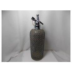 Vintage 1930's Art Deco Wire Mesh Sparklets Seltzer/Spritzer Bottle