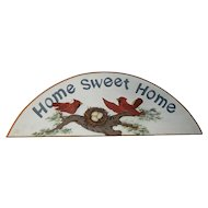 "Cute Vintage ""Home Sweet Home"" Sign with Red Cardinals"