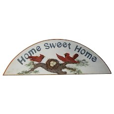 """Cute Vintage """"Home Sweet Home"""" Sign with Red Cardinals"""