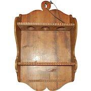 Vintage German Handmade Wooden Pipe Rack