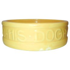 1940's McCoy Dog Bowl - Red Tag Sale Item