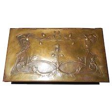 1917 French Art Nouveau Cigarette Box