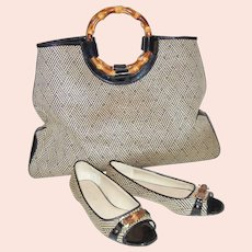 Fantastic Vintage Talbots Matching Tote & Shoes, Size 6 ½