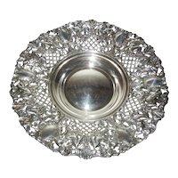 Large Silverplate Spanish Bowl