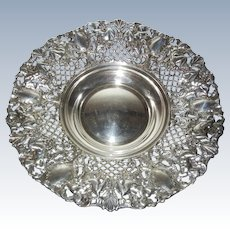 Vintage Silverplate Reticulated Bowl from Spain