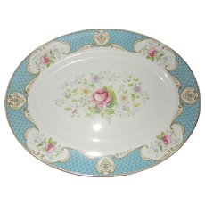 Ironstone Oval Serving Platter Staffordshire England