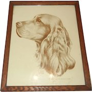 Vintage Sepia Wonderful Spaniel Dog Print