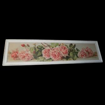Vintage Cabbage Roses Print Paul de Longpre