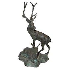 Bronze Statue of Deer