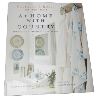 """Christina Strutt's Book """"At Home with Country"""" Like New!"""