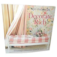 """Decorate Rich"" book by Jo Packham Like New!"