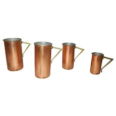Copper Set of 4 Measuring Cups
