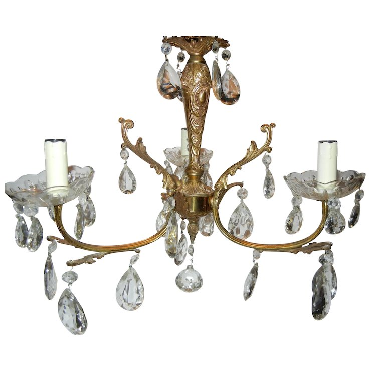 Vintage French Chandelier with Matching Sconces - Vintage French Chandelier With Matching Sconces : Comfort & Joy