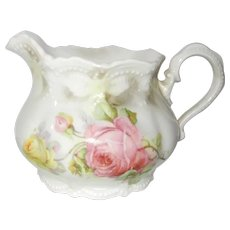 China Creamer with Cabbage Roses