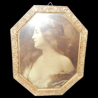 Art Nouveau Framed Print of Odalisque