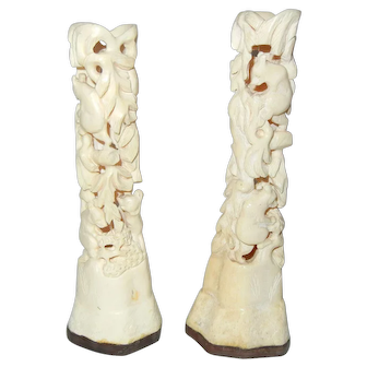 C1910 Chinese Carved Bears