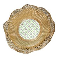 French Basket with Porcelain Inset