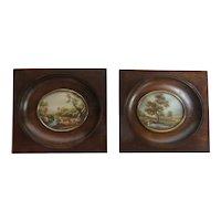 Miniature Pair of Scenic Prints