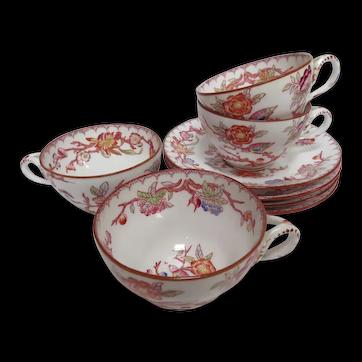 Antique French Sarreguemines Porcelain 4 Piece Set