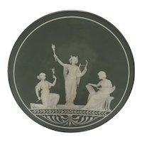 Rare Art Nouveau Plaque with Three Women