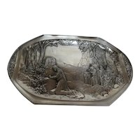 WMF Silverplate Medieval Forest Scene with Woman Praying