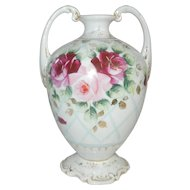 Vase with Cabbage Roses