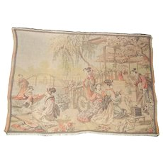 Vintage Belgium Small Tapestry