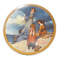 """""""Waiting on the Shore"""" by Norman Rockwell, Edwin M Knowles Collector Plate"""