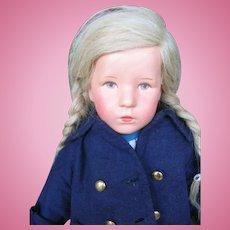 "Kathe Kruse ""Das Deutsche Kind"" 20 inches or 50 cm clothed head."
