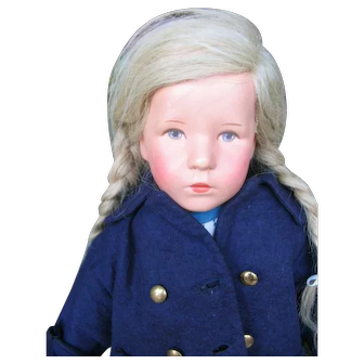 "Kathe Kruse ""Das Deutsche Kind"" 20 inches or 50 cm clothed head."