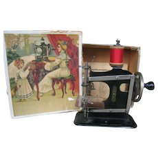 Müllers  German Sewing machine , 4 inches by 5 inches or 10X12 cm