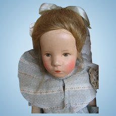 Kathe Kruse little child 14 inches or 35 cm all original in Box.