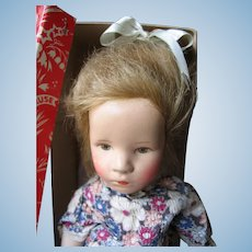"Käthe Kruse ""little german child"" 14 inches or 35 cm all original in the Box."