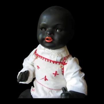 König & Wernicke black doll baby 16 inch or 40 cm.