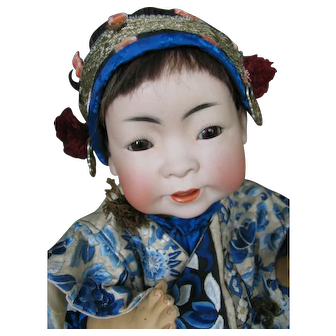 Kestner JDK 243 Oriental Asian Chinese Baby in excellent condition 16 inches or 40 cm .