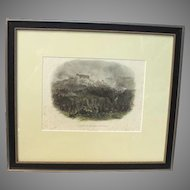 """Hand Colored Lithograph Crimean War """"Capture of the Malakoff Tower"""" published circa 1860 James S. Virtue, London"""