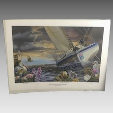 "Rare Velux ""The Ultimate Solo Challenge"" Print by Artist Mark Slawson (ART10070)"
