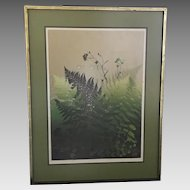 """Elton Bennett """"Ferns"""" Serigraph (ART10071)"""