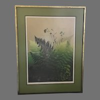 "WOW! Just Reduced!! Elton Bennett ""Ferns"" Serigraph Hand Signed (ART10071A)"