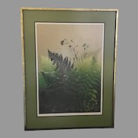 "WOW! Just Reduced!! Elton Bennett ""Ferns"" Serigraph Hand Signed (ART10071A) on SALE Thru 12-28-2020"