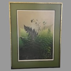 "WOW! Just Reduced!! Elton Bennett ""Ferns"" Serigraph Hand Signed (ART10071A) on SALE Now"