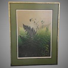 "Elton Bennett ""Ferns"" Serigraph Hand Signed (ART10071A)"