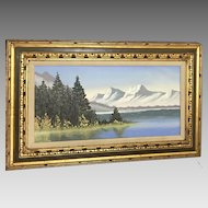 "INCREDIBLE A. Marik ""Alaskan Landscape"" Painting (ART10073)"