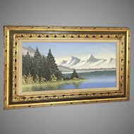 "INCREDIBLE A. Marik ""Alaskan Landscape"" Painting (ART10073)"