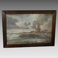 """E.E.B. """"Windmill"""" Oil Painting (ART10078)"""