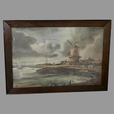 "E.E.B. ""Windmill"" Oil Painting (ART10078)"