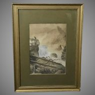 "J.C. ""Waterfall"" Watercolor Painting (ART10080)"