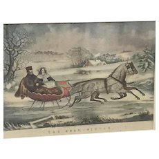 """Currier """"The Road. -Winter"""" Lithograph (ART10081)"""